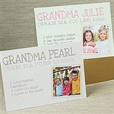 Definition Of Grandma Personalized Greeting Card - 14256