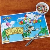 Floating Zoo Personalized Laminated Placemat - 14257