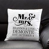 The Happy Couple Personalized Throw Pillow - 14259