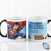 DC Comics® Superman Personalized Black Handle Coffee Mug - 14267