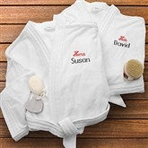 His & Her White Personalized Spa Robe- Set - 1427-Set