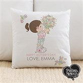Precious Moments® Flower Bouquet Personalized Throw Pillow - 14271
