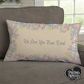 Precious Moments® Flower Bouquet Personalized Lumbar Throw Pillow - 14271-LB
