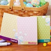 Happy Easter Personalized Bunny Mini Notepad Set of 3 - 14284