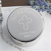 Communion Engraved Rosary Case - 14288