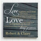 Love Is Patient Personalized Canvas Print-12