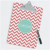 Preppy Chic Personalized Clipboard - 14313