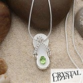 Birthstone Flip Flop Necklace - 1431D-N