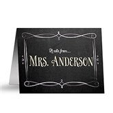 Chalkboard Personalized Teacher Note Cards - 14320-N