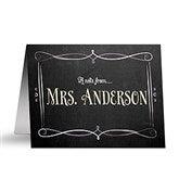 Chalkboard Personalized Teacher Note Cards - 14320-N