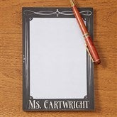 Chalkboard Teacher Personalized Notepad - 14321