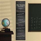 Chalkboard Teacher Classroom Rules Personalized Banner - 14322
