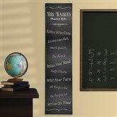 Chalkboard Teacher Classroom Rules Personalized Banner - 14322