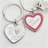 A Teacher's Heart Personalized Heart Keychain - 14326