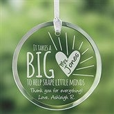 A Teacher's Heart Personalized Suncatcher - 14327
