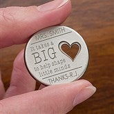 A Teacher's Heart Personalized Heart Pocket Token - 14328