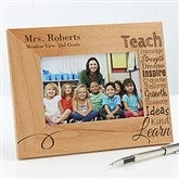 Our Teacher Personalized Frame- 4 x 6 - 14331-S