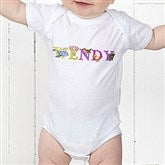 Alphabet Animals Personalized Baby Bodysuit - 14347-CBB
