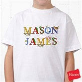 Alphabet Animals Name Personalized Hanes® Youth T-Shirt - 14347-YCT