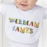 Alphabet Animals Personalized Baby Bib - 14347-B