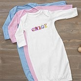 Alphabet Animals Personalized Baby Gown - 14347-G