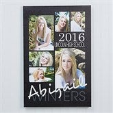 Graduation Portrait Collage Canvas Print - 16