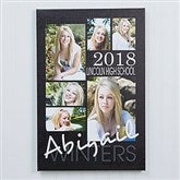 Graduation Portrait Collage Canvas Print - 12