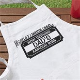 Eat Drink, BBQ Personalized Apron - 14375-A
