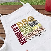 Barbecue Rules Personalized Apron - 14376