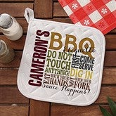 Barbecue Rules Personalized Potholder - 14376-P