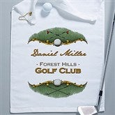 Golf Course Personalized Golf Towel-White - 14382-W