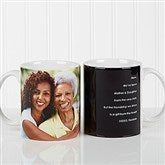 Photo Sentiments For Her Personalized Coffee Mug 11 oz.- White - 14383-W
