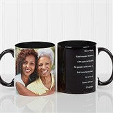 Photo Sentiments For Her Personalized Coffee Mug 11oz.- Black - 14383-B