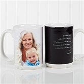 Photo Sentiments For Her Personalized Coffee Mug 15 oz.- White - 14383-L