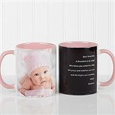 Photo Sentiments For Her Personalized Coffee Mug 11oz.- Pink - 14383-P