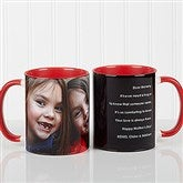 Photo Sentiments For Her Personalized Coffee Mug 11oz.- Red - 14383-R