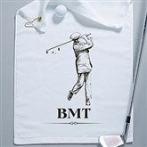 Vintage Golfer Personalized Golf Towel - 14390-W