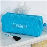 Embroidered Aqua Make-up Bag- Name - 14396-B
