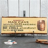 Man Cave Rules Personalized Basswood Plank - 14399