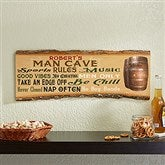 Man Cave Rules Personalized Basswood Plank