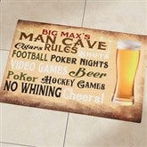 Man Cave Personalized Recycled Rubber Back Doormat - 14400