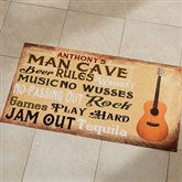 Man Cave Rules Personalized Oversized Doormat - 14400-O