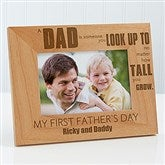 Special Dad Personalized Frame- 4 x 6 - 14408