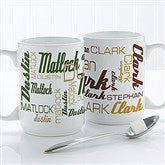 Signature Style For Him Personalized Coffee Mug 15 oz.- White - 14425-L