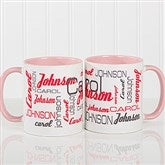 Signature Style For Him Personalized Coffee Mug 11 oz.- Pink - 14425-P