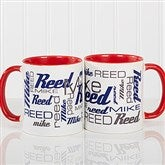 Signature Style For Him Personalized Coffee Mug 11 oz.- Red - 14425-R