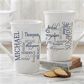 Signature Style For Him Personalized Latte Mug 16 oz.- White - 14425-U