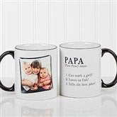 Definition Of Dad/Grandpa Photo Coffee Mug 11oz.- Black - 14427-B