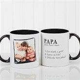 Definition Of Dad/Grandpa Photo Coffee Mug 11oz.- Black - 14427-B