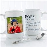 Definition Of Dad/Grandpa Photo Coffee Mug 15 oz.- White - 14427-L